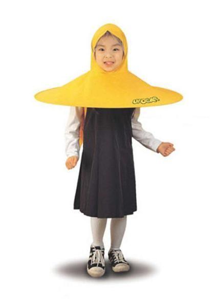 UFO CAP - umbrella coatRain Coats, Cap Umbrellachildren, Umbrellas Coats, Head Of Garlic, Awesome Funny, Ufo Cap, Cap Umbrellas, Kids, Ufo Raincoat