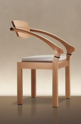 contemporary wooden chair with armrests SPRING by Massimo Scolari GIORGETTI