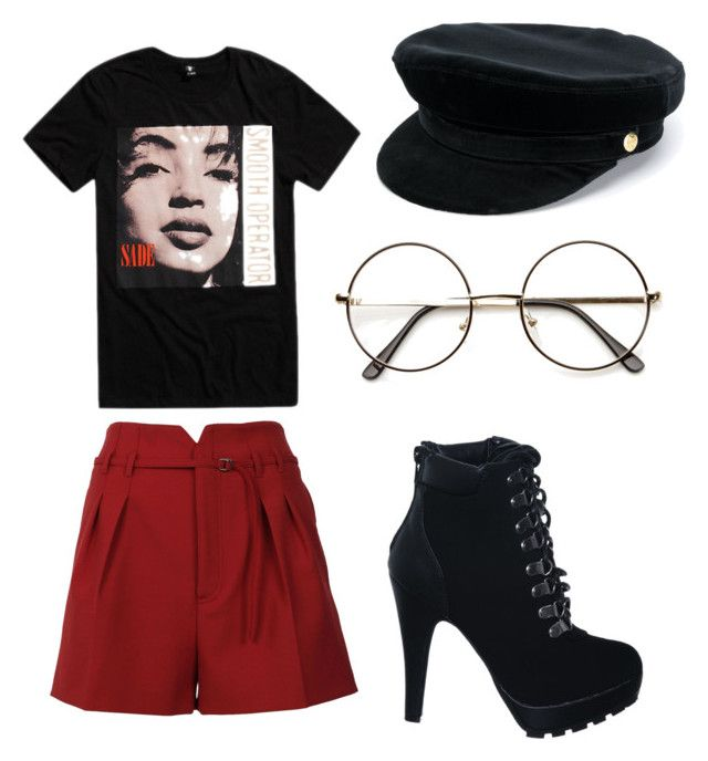 Sade concert by kristinateena on Polyvore featuring polyvore, fashion, style, RED Valentino, Manokhi and clothing