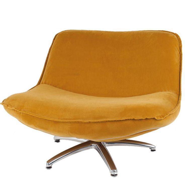 Forli oker geel draai Fauteuil. Grijs en bruine draai fauteuil ...