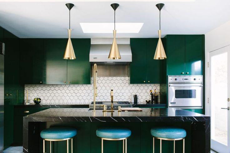 Forest (Dark) Green Cupboards