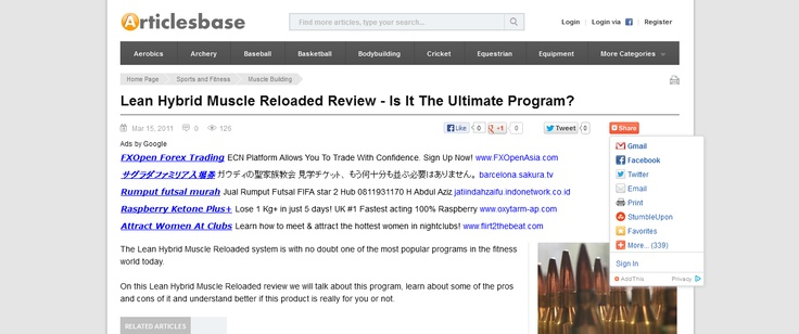 Lean Hybrid Muscle Reloaded Review - Is It The Ultimate Program? --> www.articlesbase.com/muscle-building-articles/lean-hybrid-muscle-reloaded-review-is-it-the-ultimate-program-4412691.html