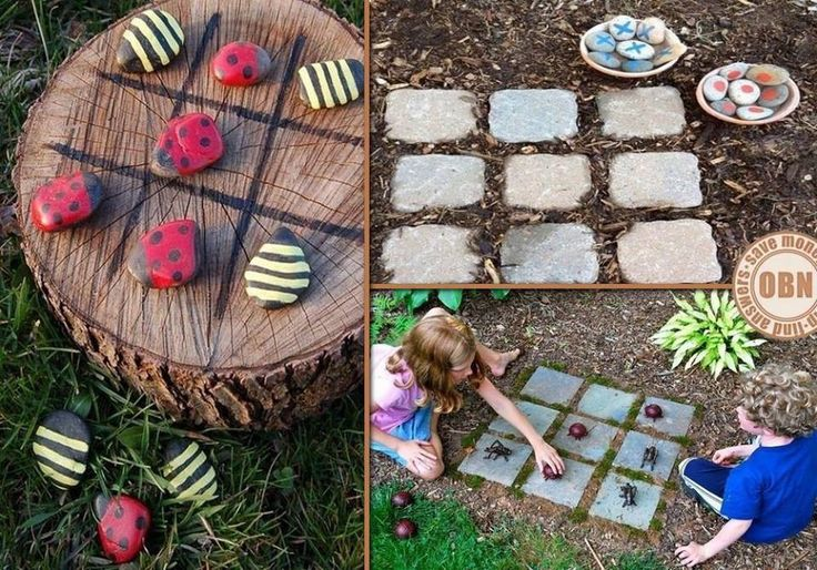 I so have to do this! Outdoor tic tac toe