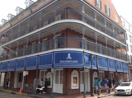 Royal Sonesta Hotel on Bourbon Street in New Orleans.  Crazy outside, beautiful inside.