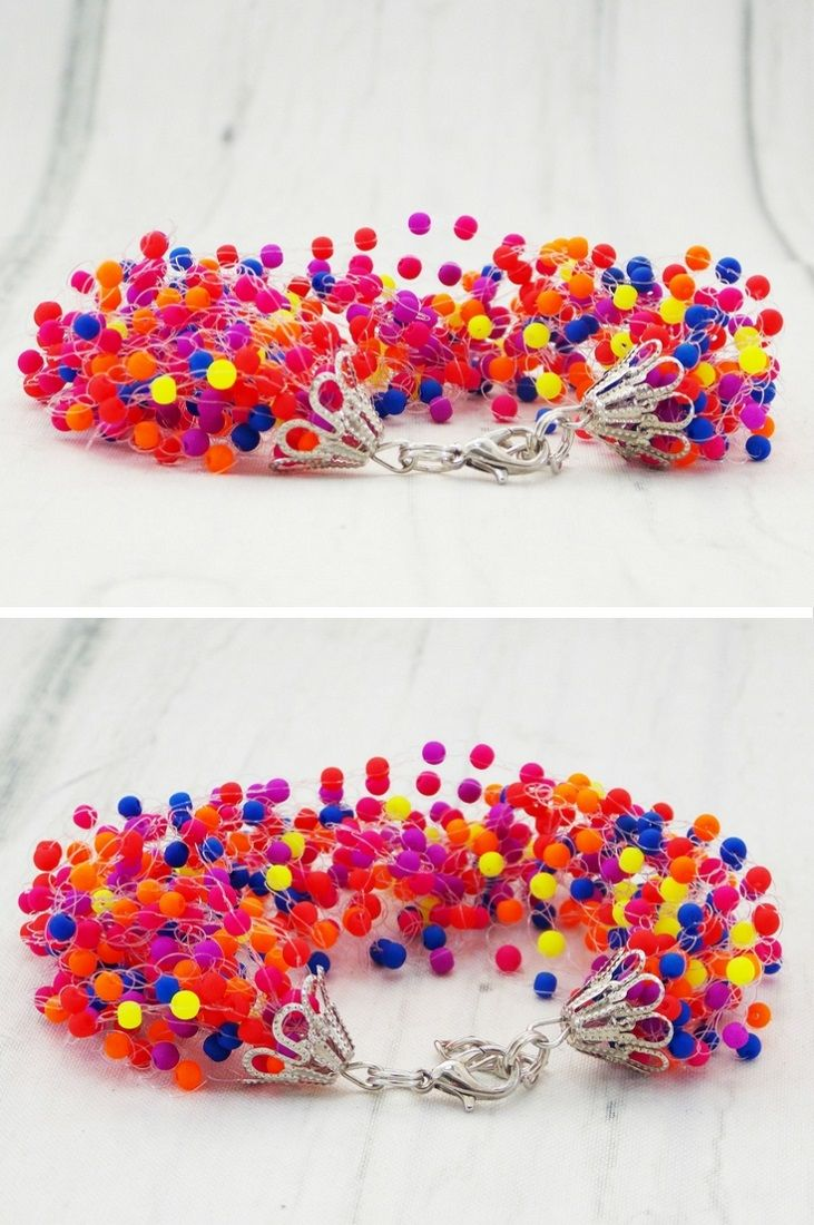 Neon bracelet hawaii jewelry retro funky eclectic accessories rockabilly 80s jewelry set $22.44