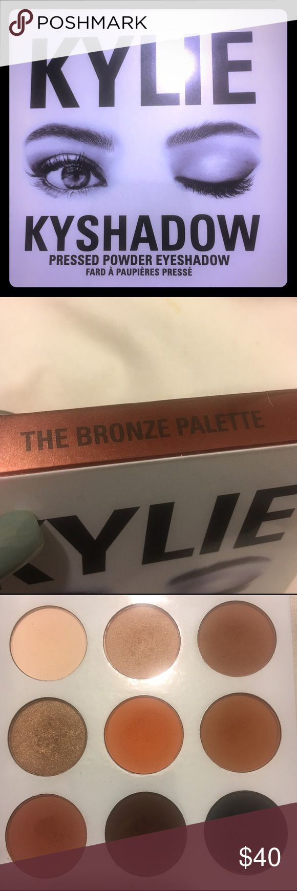 Kylie Bronze Eyeshadow Used only a few times! Comes with box! No trades 🚨great colors, just cleaning out my makeup drawer! Kylie Cosmetics Makeup Eyeshadow