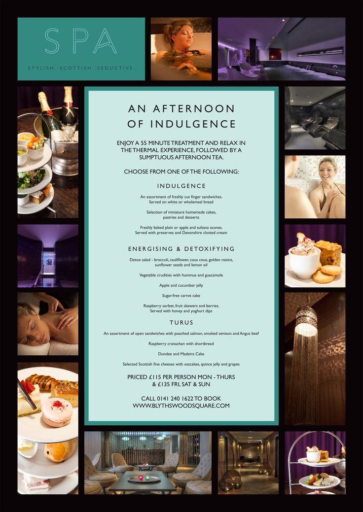 AN AFTERNOON OF INDULGENCE  Enjoy a one hour treatment and relax in our extensive Thermal Experience followed by a sumptuous Afternoon Tea...  An Afternoon Of Indulgence - 55mins - £125 Mon-Thu / £140 Fri, Sat & Sun 55 Minute Treatment Full use of The Thermal Experience Afternoon Tea in the Spa café