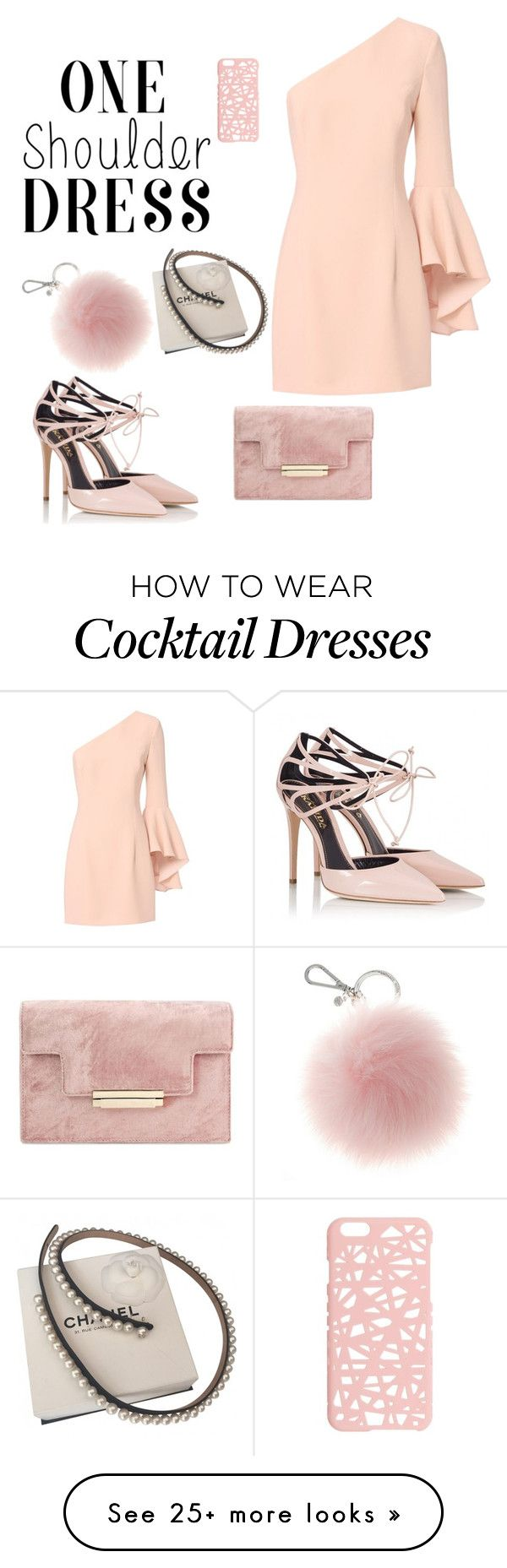 """""""soft pink / one-shoulder dress"""" by balex6 on Polyvore featuring Exclusive for Intermix, Fratelli Karida, Miss Selfridge and Chanel"""
