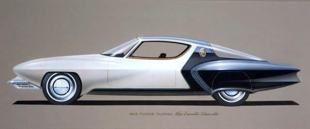 1952 Tucker Talisman concept, design by Alex Tremulis