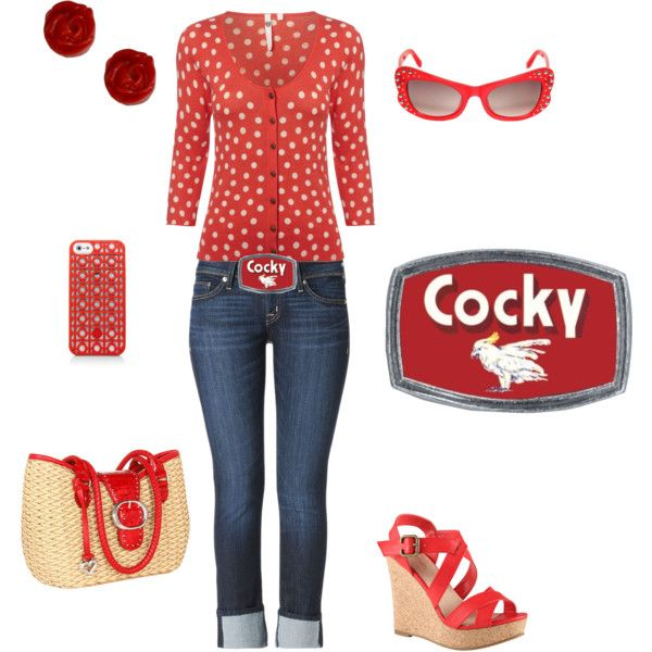 """""""Summer Rockabilly Cocky Belt Buckle look"""" by classic-hardware on Polyvore"""