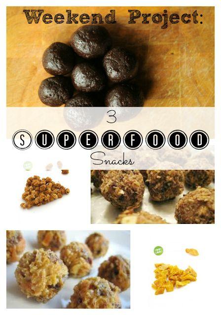 Eet goed, Voel je goed: Weekend Project: 3 Superfood Snacks
