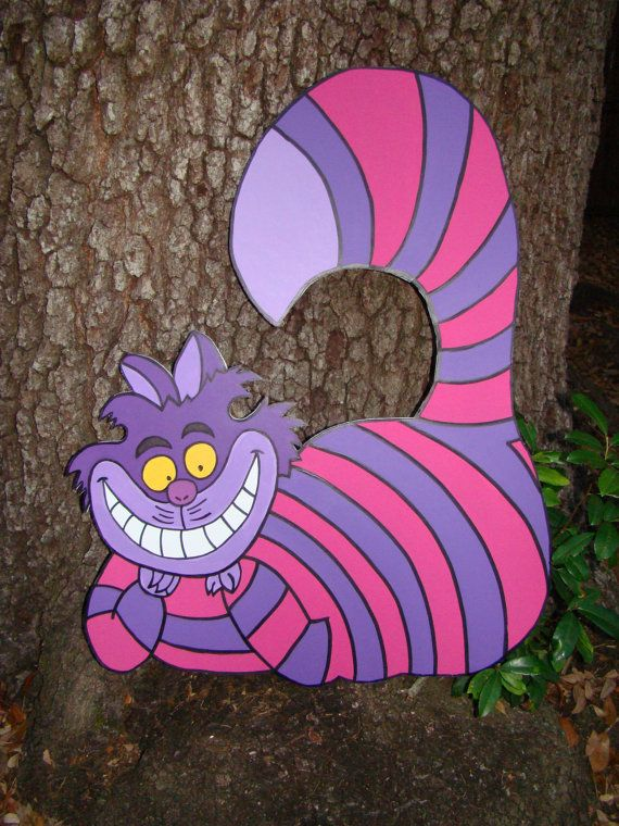 Decor for Emery's room...Cheshire Cat Alice in Wonderland Party Prop and by BlueGardenias, $55.00