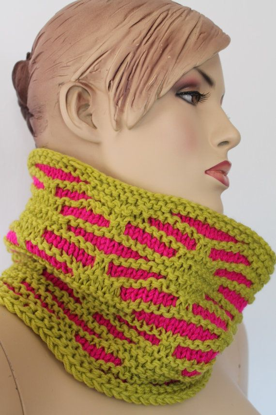 Chunky Knit    Hand Knit Cowl Scarf   Neck Warmer by levintovich, $59.00