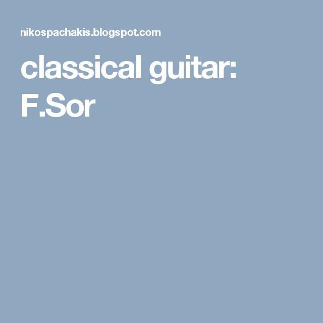 classical guitar: F.Sor