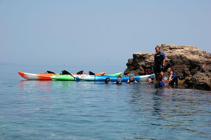 Sea kayak exploring