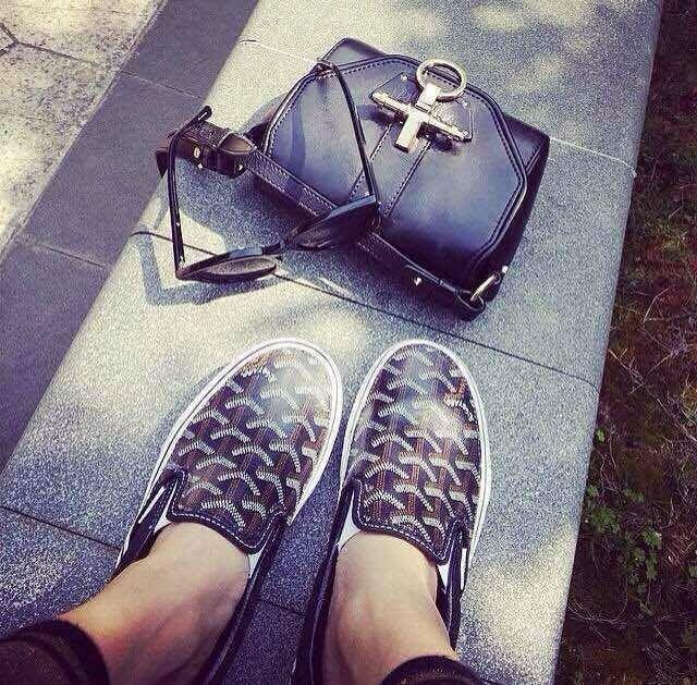 GOYARD slip on  | 17 Best ideas about Goyard Vans on Pinterest | Goyard men, Men's shoes and Men shoes casual