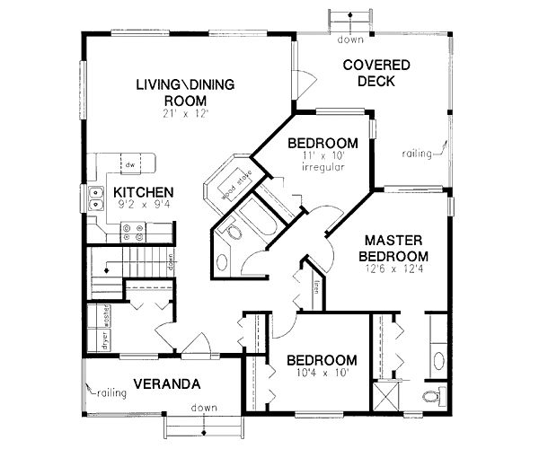 3 Bedroom 285m2 Floor Plan Only: 1217 Square Foot Home , 1