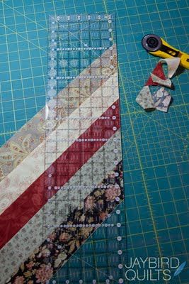A great way to make quilt binding from leftover fabric strips. I'll have to try this.