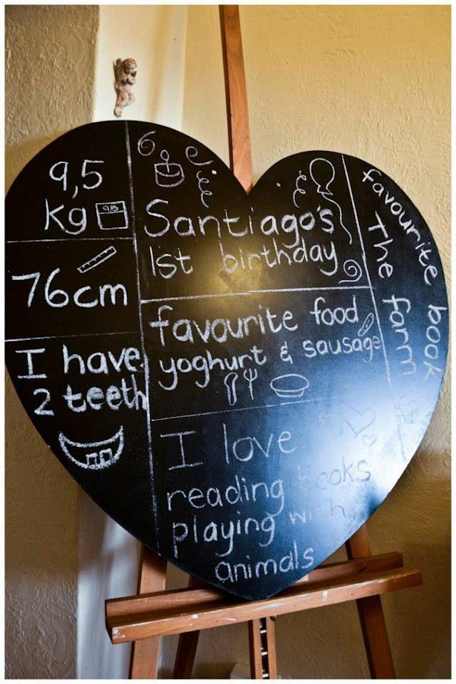 First birthday board