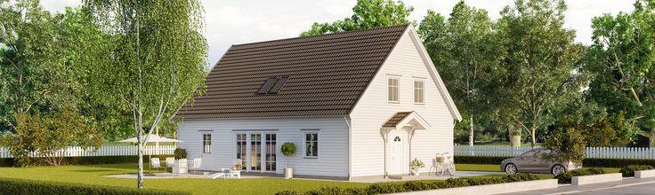 Tidlös 04: Är ett klassiskt 1 1/2-planshus med luftig planlösning.