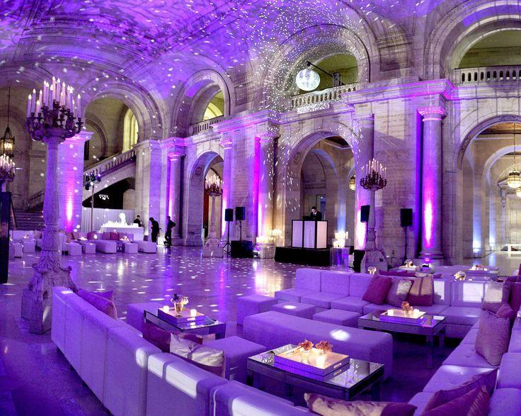 Fabulous setup at this #purple #uplighting #wedding #reception! #diy #diywedding #weddingideas #weddinginspiration #ideas #inspiration #rentmywedding #celebration #weddingreception #party #weddingplanner #event #planning #dreamwedding by @lindsaylandman