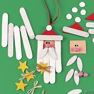 manualidades con palitos de helado para navidad)