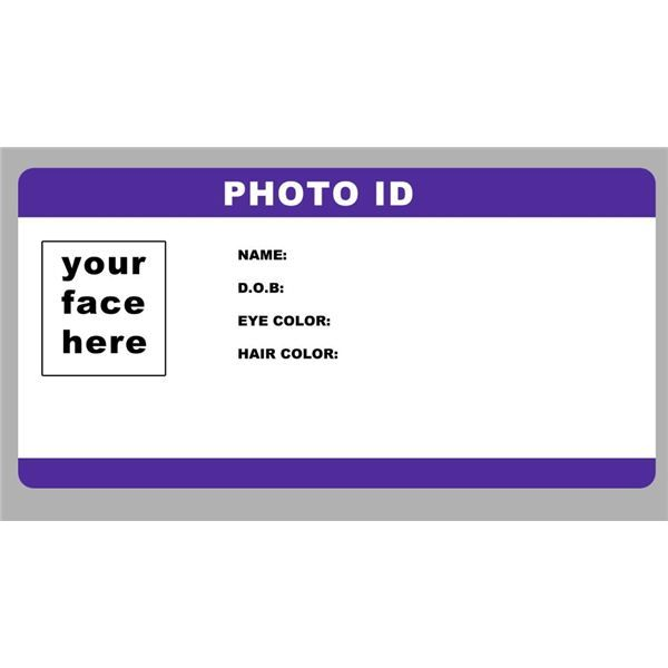 Blank ID Card Template PhotoID template by RookstocK is an ultra - id badge template