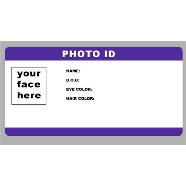 Blank ID Card Template PhotoID template by RookstocK is an ultra - blank id card template