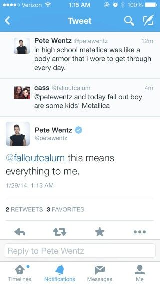 """Why do you love Pete Wentz?"""