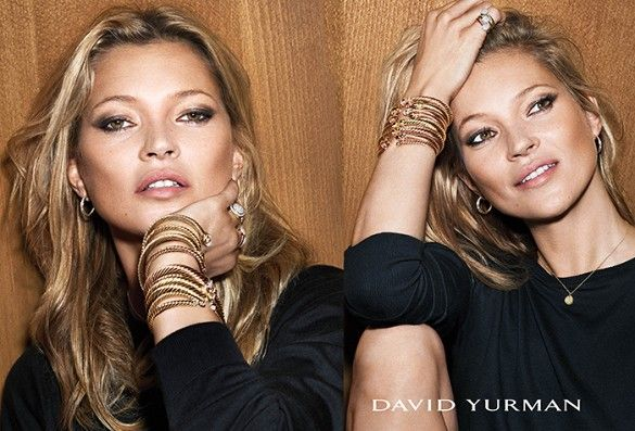 Kate Moss for David Yurman's holiday campaign, photographed by Mert Alas and Marcus Piggott