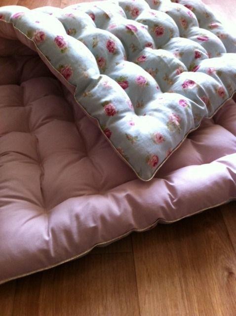 futon Shabby chic - surmatelas japonais - tapis de jeux ou de sieste pour enfant- Shabby chic : Linge de lit enfants par sheren