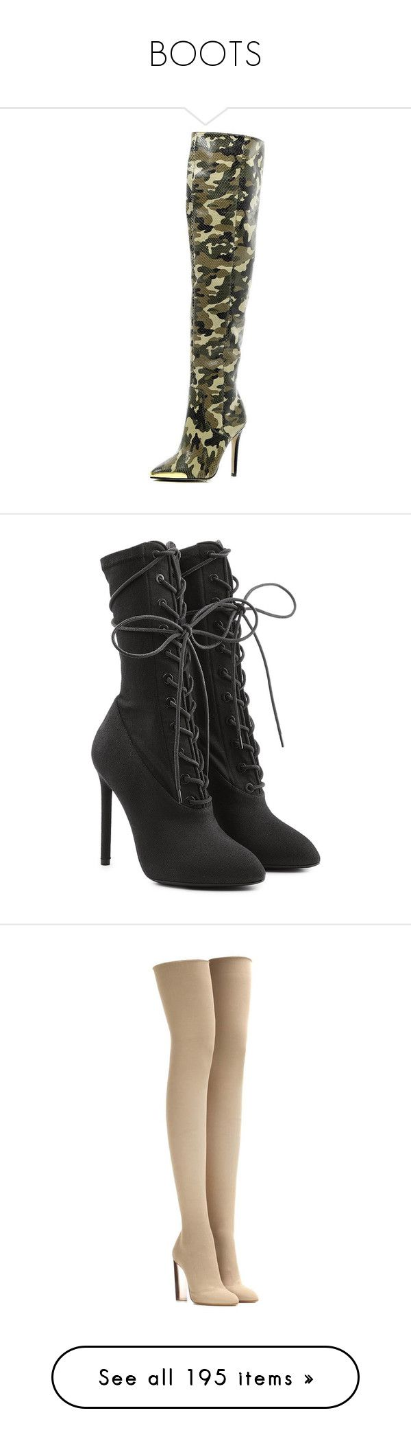 """""""BOOTS"""" by theonlydej ❤ liked on Polyvore featuring shoes, boots, sale, knee high boots, knee high stiletto boots, high heel stilettos, river island, heels stilettos, ankle booties and heels"""