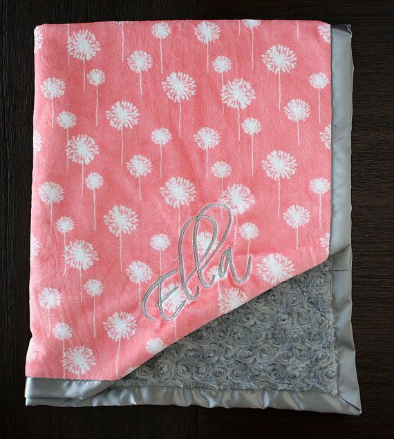 Best 25 personalized baby blankets ideas on pinterest baby embroidered minky blanket minky baby blanket personalized baby blanket baby girl minky negle Images
