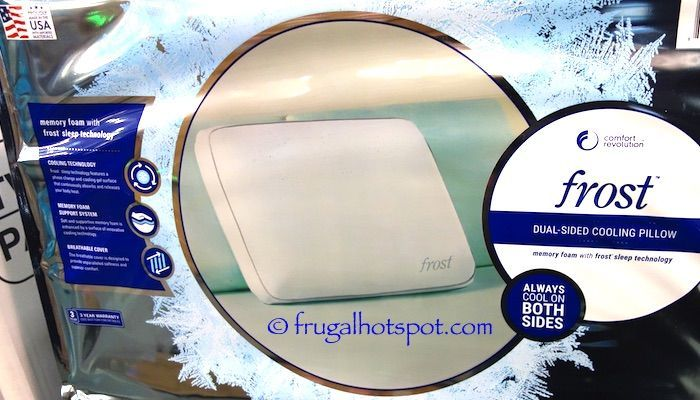 Costco Sale Comfort Revolution Frost Dual Sided Cooling Pillow