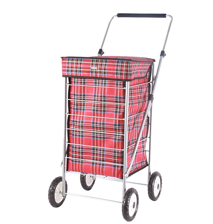 Hamish Red Check 4 Wheel Shopping Trolley.Hamish Red Check 4 Wheel Shopping Trolley  Take the weight out of shopping with shopping trolleys by Sabichi.  We have added new colours and patterns to our existing range of practical and reliable 4 wheel shopping trolleys.  Our extensive range of shopping trolleys lets you choose a style that caters to your individual needs.