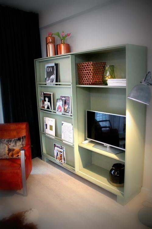 25 beste idee n over een boekenkast inrichten op for Rechthoekige woonkamer inrichten