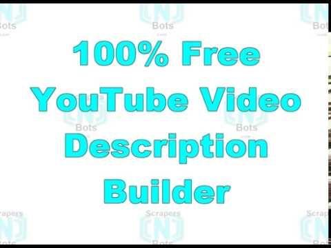 Youtube Video Description Builder Template Youtube Video