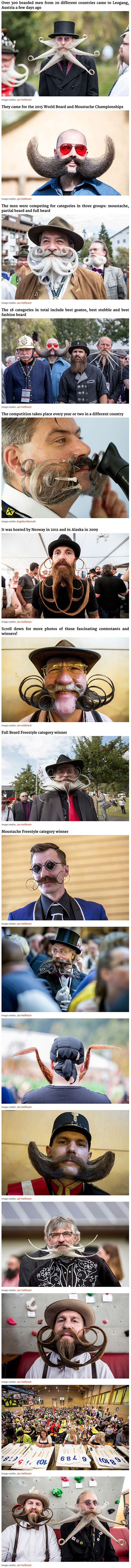 World's Most Epic Beards From 2015 World Beard And Moustache Championships.