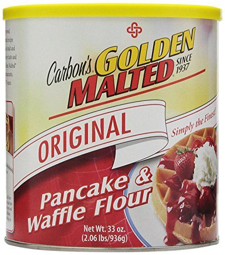 Golden Malted Pancake & Waffle Flour, Original, 33-Ounce Cans (Pack of 3) Golden Malted http://www.amazon.com/dp/B001ELL60W/ref=cm_sw_r_pi_dp_9J.Bub00YKGTV