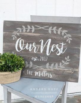 Our Nest Wood Sign – 17.5×24  https://www.arworkshop.com