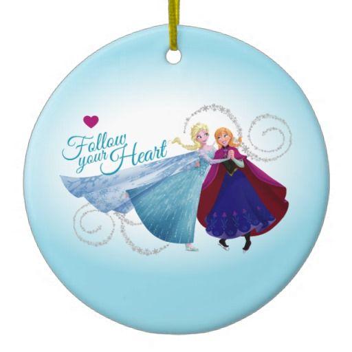 Follow Your Heart Christmas Tree Ornament #FRozen #Disney #anna #elsa