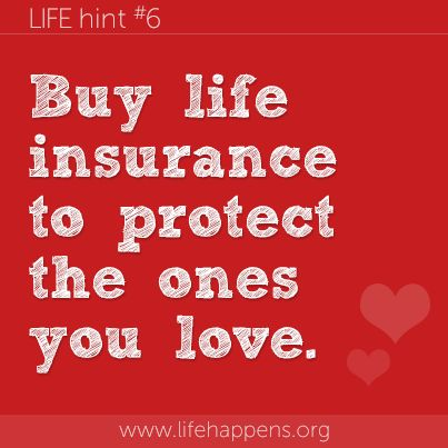 Sound advice! For more information or a life insurance quote, visit us at http://www.jmwsons.com/services/life-and-health/life-insurance/ or call us at 847-228-8400