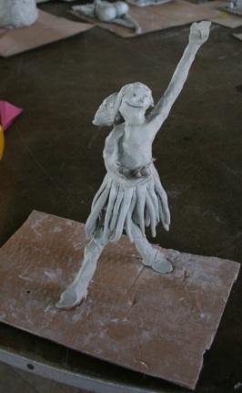 Ballerina party clay figure