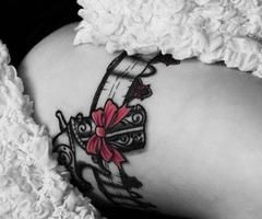 Garter Tattoos For Girls | Edward Masen (InkedFucker) on We Heart It