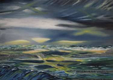 "Saatchi Art Artist Deni Alfieri; Painting, ""Paesaggio irlandese"" #art"