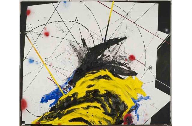 Sylvain Bouthillette |KING TUBBY II (Pour CB) |Huile et acrylique sur panneau (oil and acrylic on board) |2012