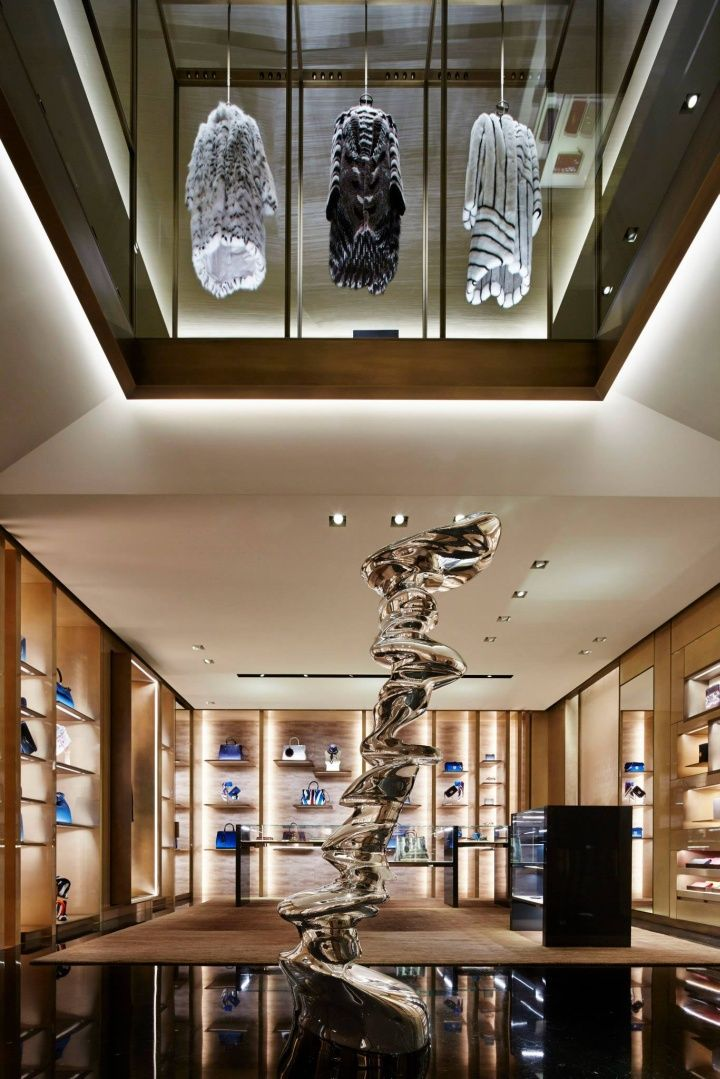 open basement  Retail Design | Store Interiors | Shop Design | Visual Merchandising | Retail Store Interior Design | Fendi flagship store Paris