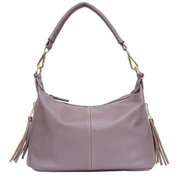 Double Tassel Small Shoulder Bag – Light Purple  $52.00 Hobo style with bold stitching design on the front and back. Crafted with soft high quality vegan leather and comes with two tassels, one on each side for that extra little something. Quality inside lining with interior compartments. Zipper Top Closure. Dimensions: 13″(L) x 7″(H) x 5″(W); Handle/Strap:11″ Also available in Wine 💗  Lady Boss Promo Code ➜REP154 to save %10✨
