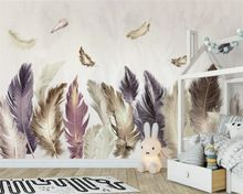 Beibehang Modern home custom 3D photo wallpaper mural gold feather background wall decoration painting wallpaper for walls 3 d //Price: $US $15.62 & FREE Shipping //     #festive #party #birthdayparty #christmas #wedding decoration #event