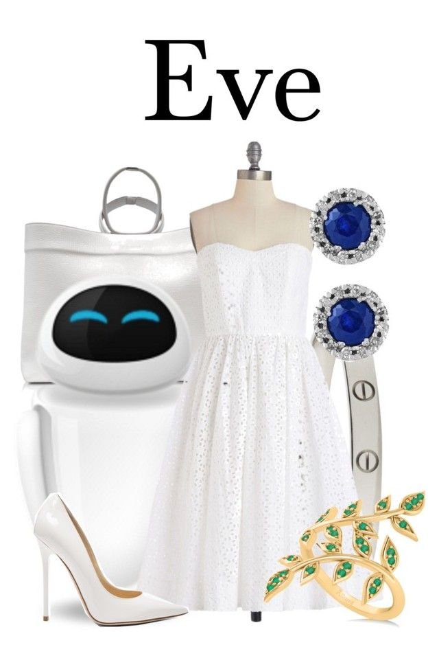 """""""Eve"""" by megan-vanwinkle ❤ liked on Polyvore featuring Jil Sander, Cartier, WALL, Effy Jewelry, Jimmy Choo and Allurez"""